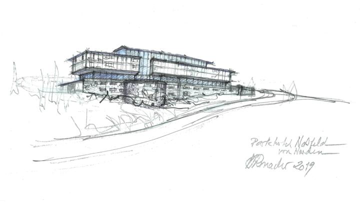 Shoppen mit Panoramablick: So könnte das neue Einkaufszentrum am Nassfeld aussehen.
