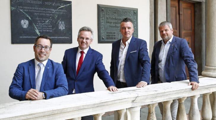 ÖVP-CO Malle, SPÖ-KO-Stv. Scherwitzl, FPÖ-KO Darmann, TK-Obmann Köfer.