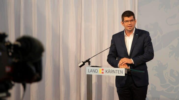 Pressekonferenz mit LR Martin Gruber