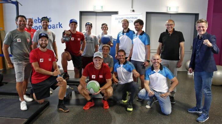 ÖSV Skistars beim Training im Sportpark