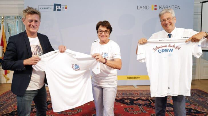 LH Peter Kaiser, LHStv.in Beate Prettner und Landessportdirektor Arno Arthofer