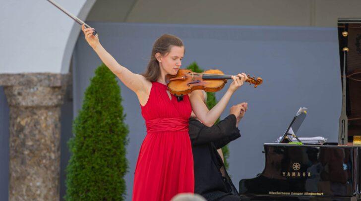 Sophie Druml begeisterte auf ihrer Violine.