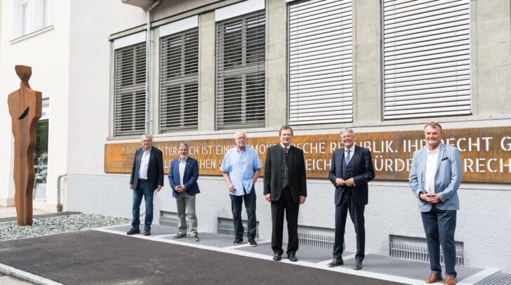 v.l.n.r. Johannes Grabmayer, Hermann Lipitsch, Karl Brandstätter, Günther Goach, Peter Kaiser, Winfried Haider