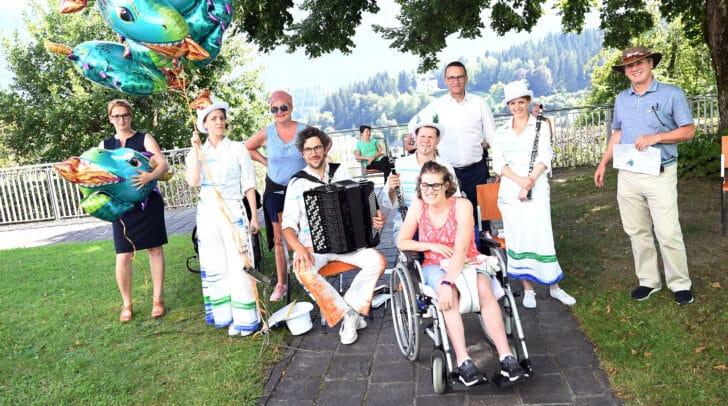 Das Ensembles Klakradl begeisterte die Zuhörer in der Gailtal-Klinik.
