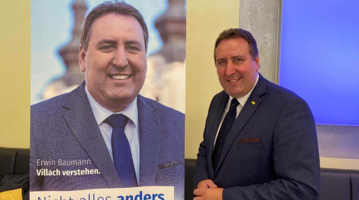 FPÖ-Stadtrat Erwin Baumann möchte zum Wahlkampf-Auftakt eine Infotour durch Villach machen, bei der er mit Bürgerinnen und Bürger direkt in Kontakt treten kann.