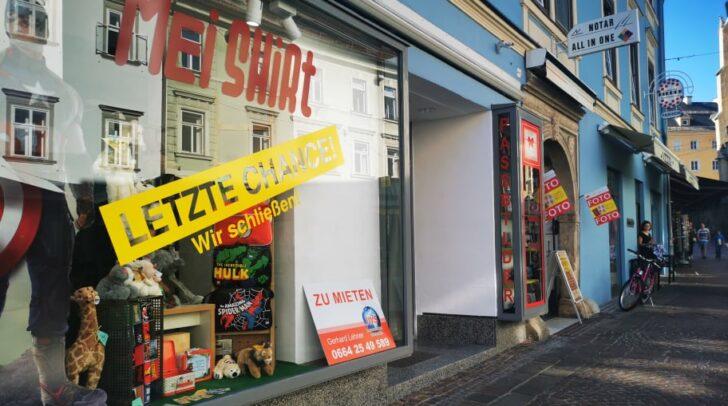 """Der """"Mei Shirt""""-Store verlässt die Villacher Innenstadt."""