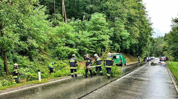 In vielen Teilen Kärntens stehen die örtlichen Feuerwehren aktuell im Dauereinsatz. Auch in Köttmannsdorf mussten die Einsatzkräfte mehrfach ausrücken.