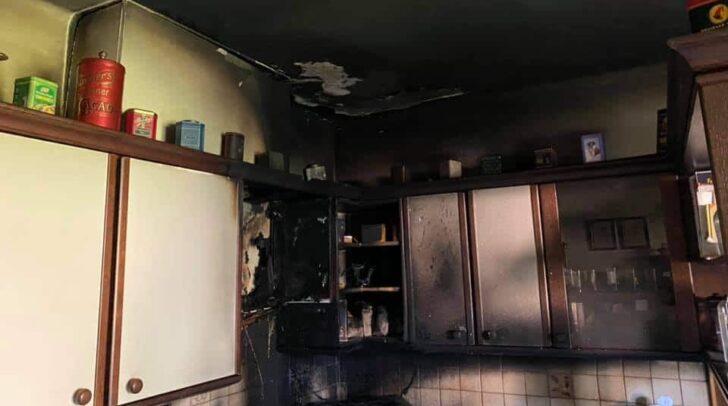 Vermutlich führte überhitztes Speiseöl zu dem Brand.