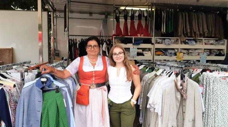 Edith Haslinger mit Tochter Laura können sich ein Leben ohne Markt nur schwer vorstellen.