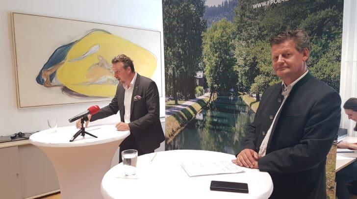 Vizebürgermeister Wolfgang Germ (FPÖ) und Stadtrat Christian Scheider (FPÖ)