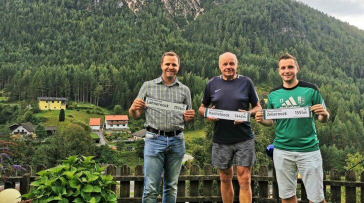 Die Nockgipfel am Erzberg Höhenweg wurden mit Hinweistafeln versehen.