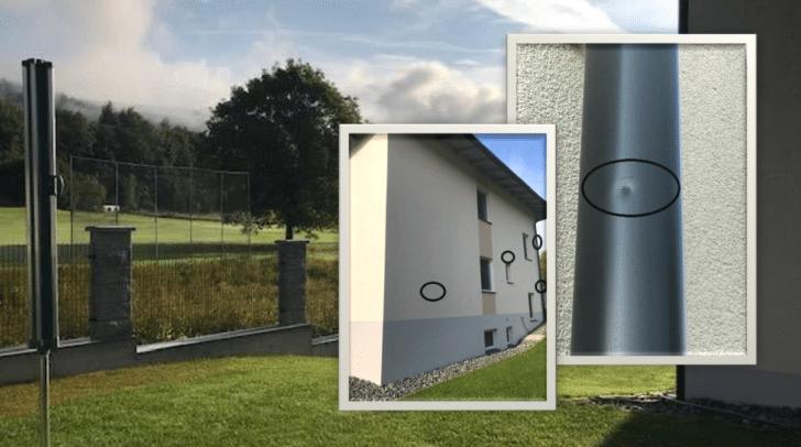 Familie Lepuschitz besitzt in unmittelbarer Nähe des Golfplatzes ein Haus mit mindestens neun Einschlägen von Golfbällen.