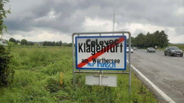 Bereits vor einigen Tagen wurden die Ortstafeln in der Völkermarkter Straße beschmiert. Nun folgte die Rosentaler Straße.