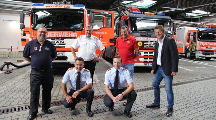 Andreas Gallob, Helmut Unterluggauer, Stadtrat Christian Scheider, Dietmar Hirm und Erich Stocker.