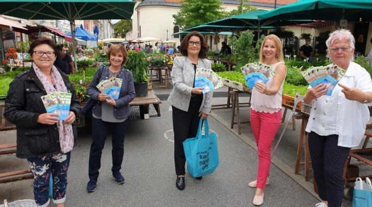 Im Bild v.l.: Seniorenbund-Geschäftsführerin Brigitta Prochazka, Marianne Drexler, Nationalratsabgeordnete Elisabeth Scheucher-Pichler, ÖVP Landesgeschäftsführerin Julia Löschnig und Elisabeth Riedl.