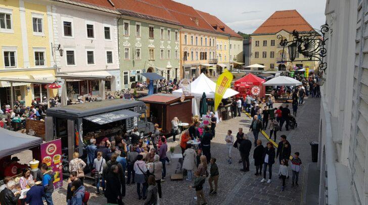 Anfang August verwandelt sich der Hauptplatz wieder in eine kulinarische Gustiermeile.