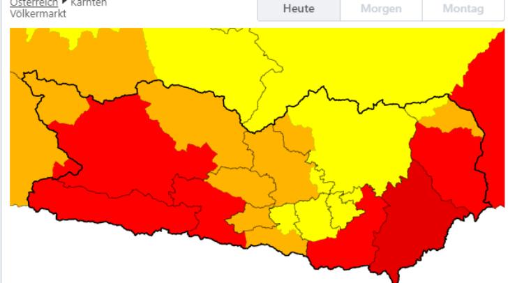 Betroffen sind vor allem die Bezirke Hermagor, Klagenfurt-Land, Spittal an der Drau, Völkermarkt, Wolfsberg und Villach-Land.