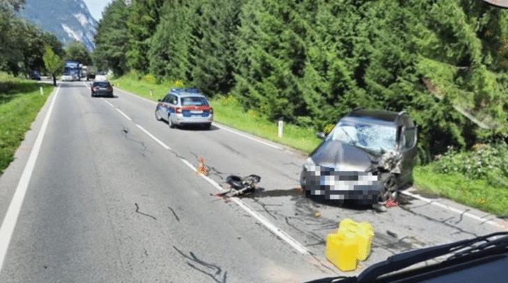 Auf der Drautal Straße ist es zu einem Verkehrsunfall gekommen.