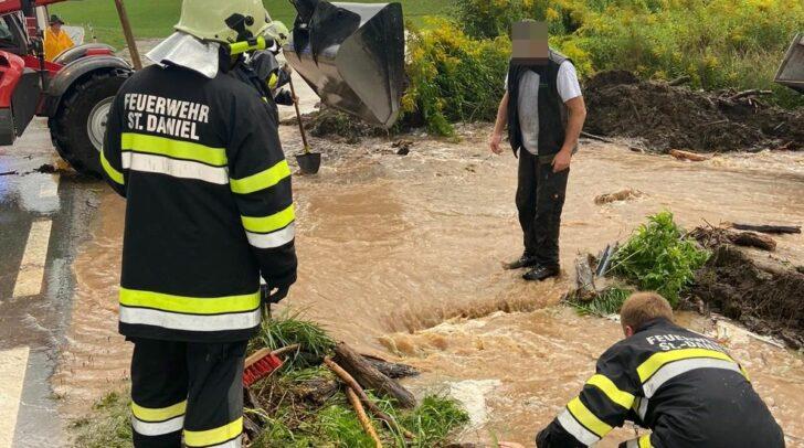 Die großen Regenmengen sorgten in vielen Teilen Kärntens für Überschwemmungen.