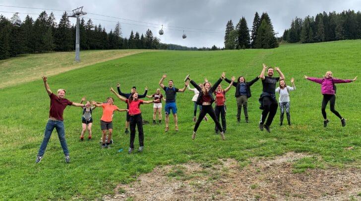 Die Teilnehmenden des Alpe-Adria-Hub