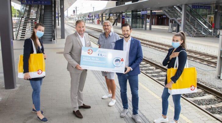 Mit dabei waren neben LR Sebastian Schuschnig auch ÖBB Regionalmanager Hannes Wallner und Hannes Guggenberger von Postbus