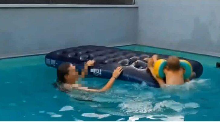 Auch mit Schwimmhilfen darf man Kinder im Wasser nicht aus den Augen lassen.