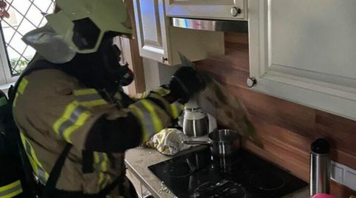 In der Kneippgasse kam es zu einem Küchenbrand.