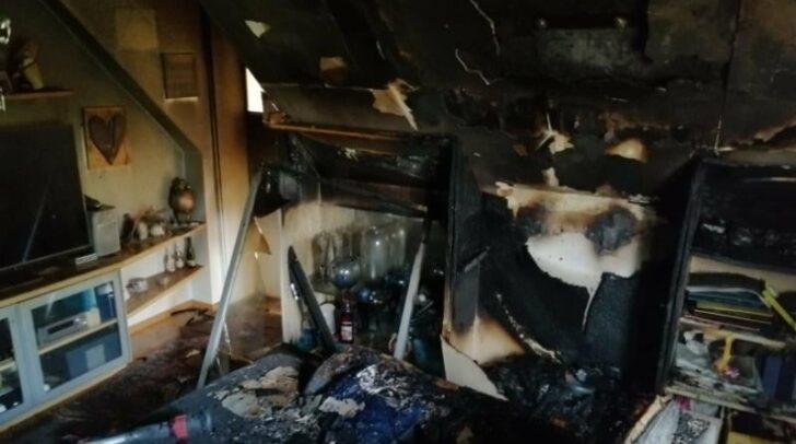 Insgesamt standen 40 Kameraden im Brandeinsatz.