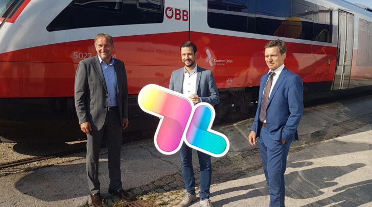 Reinhard Wallner, Sprecher der Kärntner Linien, LR Sebastian Schuschnig, und Alfred Loidl, Vorstand der Österreichischen Postbus AG.