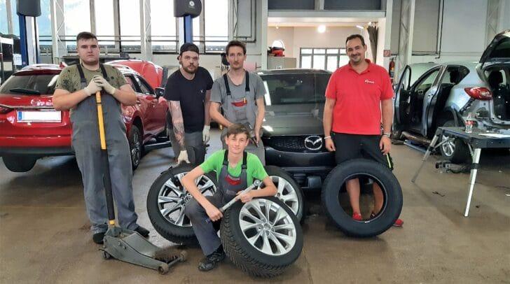 Sommer wie Winter: Das Eisner-Team kümmert sich um deine Reifen.