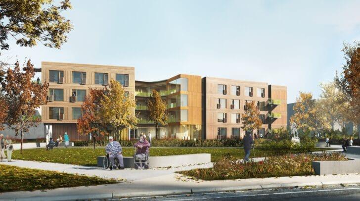 So soll das Pflegeheim Hülgerthpark in Zukunft aussehen.