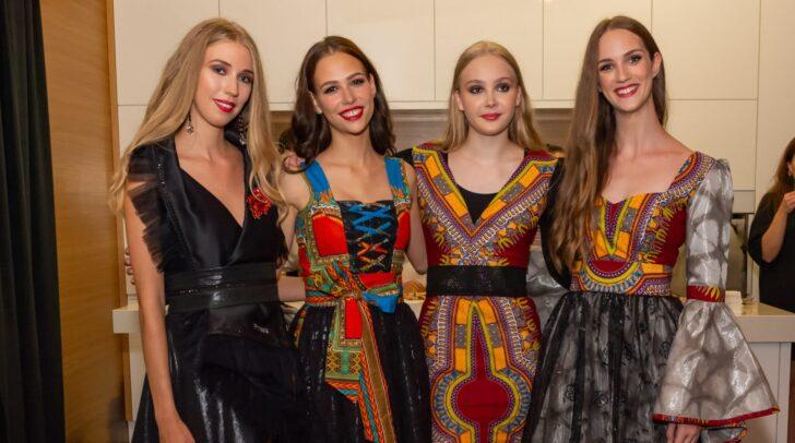 Die Kärntnerinnen Alida Tolmaier, Tamara Sadnikar, Marissa Tschinder & Sarah Kühschweiger in Mode von Barbara Alli (Hand Made Story)