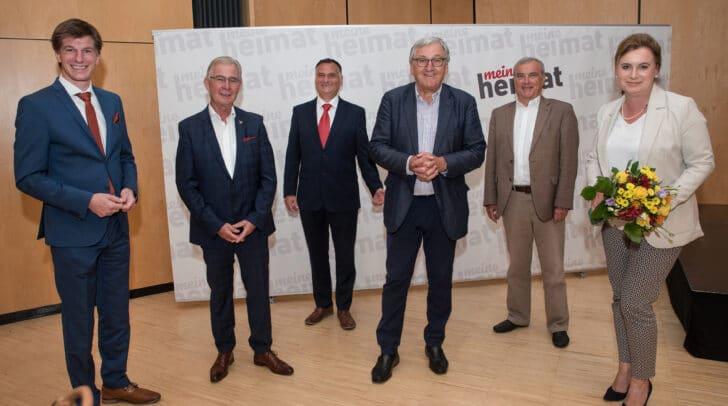 Aufsichtsratsvorsitzender-Stv. Dieter Berger, StR Harald Sobe, Vorstand Helmut Kusternik, Vorstandsvorsitzender Helmut Manzenreiter und die Vorstände  Walter Dabernig und Doris Liposchek.