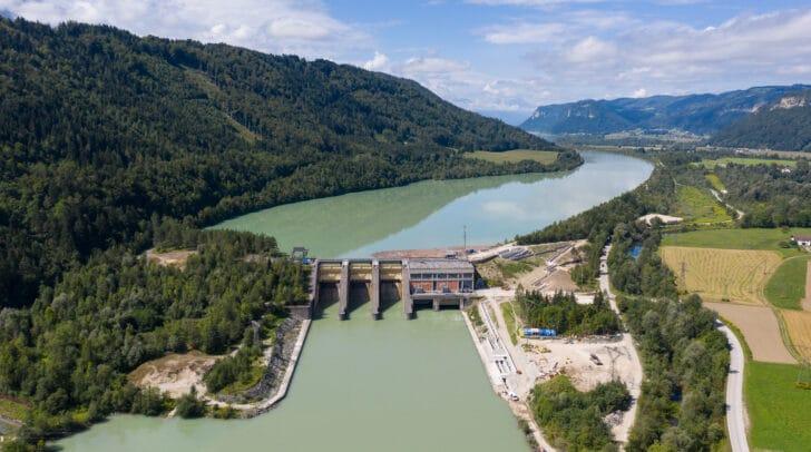 Mit insgesamt 26 Höhenmetern, die von den Fischen zurückgelegt werden müssen, ist die Fischtreppe beim Kraftwerk Annabrücke die höchste ihrer Art in Europa.