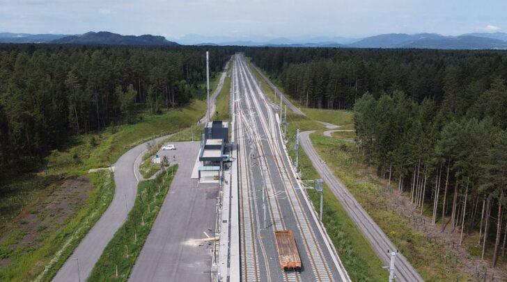 Ab 7. September halten erstmals Züge an der neuen Koralmbahn Haltestelle in Mittlern.