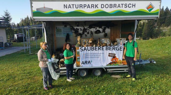 65 Freiwillige befreiten den Villacher Hausberg von herumliegenden Unrat.