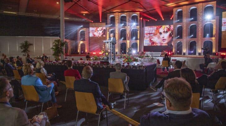 LH Peter Kaiser bei der Eröffnung der Herbstmesse.