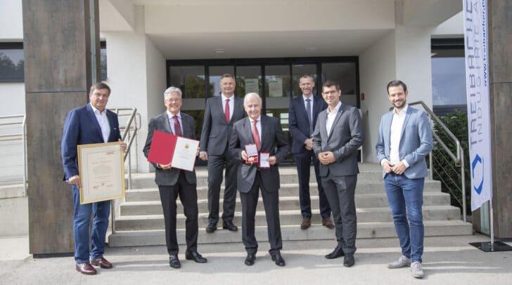 WK Präsident Jürgen Mandl, LH Peter Kaiser, Rainer Schmidtmayer, Alexander Bouvier, Rene Haberl, LR Martin Gruber und LR Sebastian Schuschnig