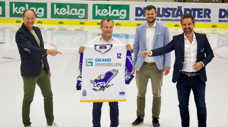(v.l.n.r) VSV-Sportvorstand Gerald Rauchenwald, Johann Grandits (GRAND IMMOBILIEN), VSV-Geschäftsführer Andreas Napokoj und VSV-Finanzvorstand Andreas Schwab.
