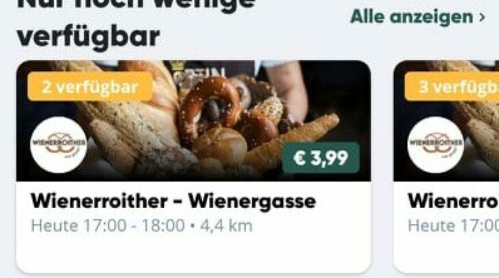 Der Screenshot zeigt, wie die App funktioniert. Die Bäckerei ist bereits vertreten.