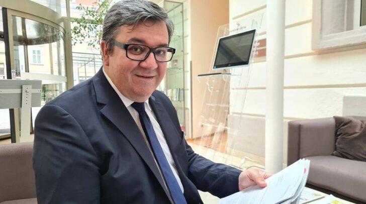 Gemeinderat Klaus-Jürgen Jandl präsentierte die Pläne für seine Kandidatur im Zuge einer Auftaktpressekonferenz.