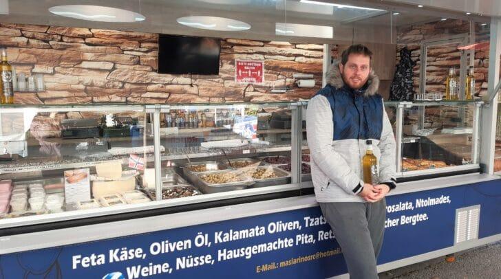 Bei Jannis Maslarinos findest du feinste griechische Produkte direkt vom Bauern.