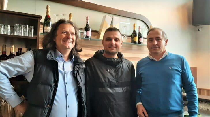 Bernd Begusch mit Miokouic Vjekoslav und Harald Treffner (v.l.)