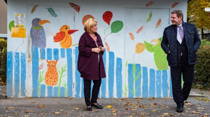 Vizebürgermeisterin Mag.a Gerda Sandriesser und Bürgermeister Günther Albel