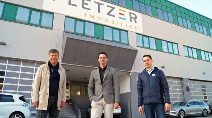 Besichtigung des Areals (von links): Bürgermeister Gerhard Pirih, Markus Pirker (Pletzer Gruppe) und Josef Six (Pletzer Gruppe)