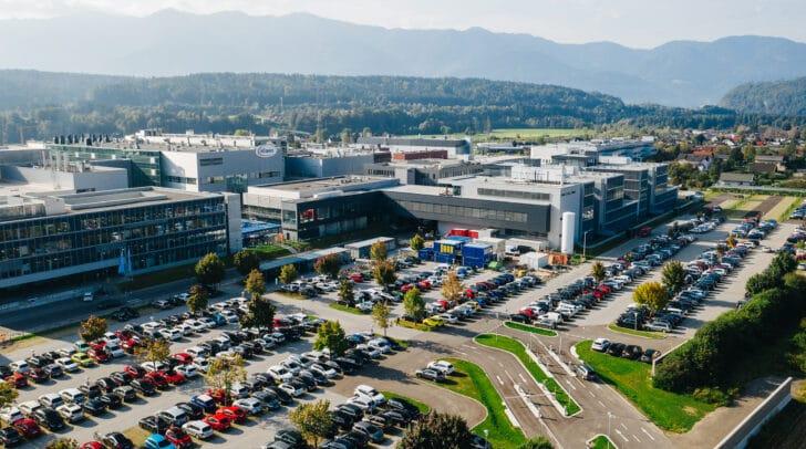 Das neue Forschungsgebäude am Infineon Standort Villach