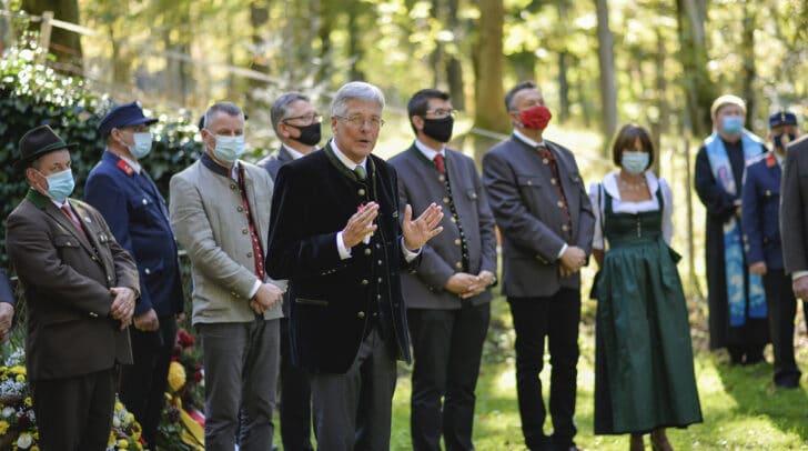 Bei der Gedenkfeier am Donnerstag waren auch unter anderem Landeshauptmann Peter Kaiser und Landesrat Martin Gruber anwesend.