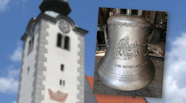 Drei neue Bronzeglocken werden geweiht.