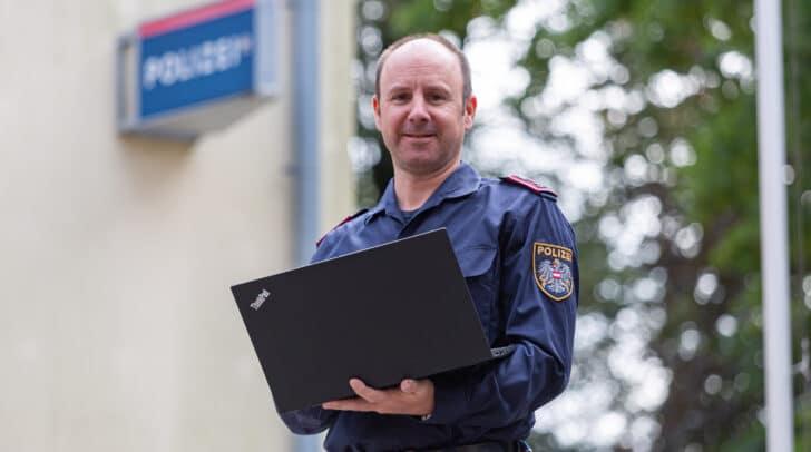 """Die Auszeichnung """"Polizist des Jahres 2019"""" ging an Gruppeninspektor Christian Baumgartner."""