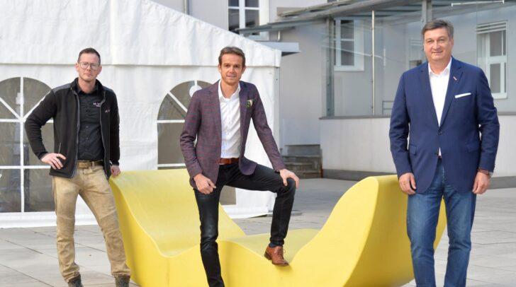 Schulterschluss für die Kärntner Eventbranche: Rotfuchs-Chef Hannes Dopler, WK-Marketingleiter Markus Polka und WK-Präsident Jürgen Mandl